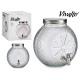 jar with tap citrus metal lid 7l