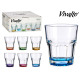 colored base tumbler 28,5cl, 6 times assorted colo