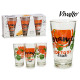 set of 3 glasses orange refresher 31cl