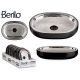black stainless steel soap dish