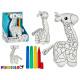 peluche girafe à peindre avec marqueur
