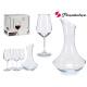 Set Dekanter und 4 Gläser Allegra 490 ccm