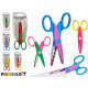children's scissors zig zag colors 3 times ass