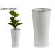 vase tall white phyllo silver