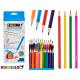 24 triangular colored pencils