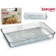 rectangular glass fountain 40x27cm borcam grill