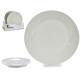 plate plain porcelain 24,4cm white