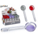 spoon ice cream with silicone colors 3 times assor