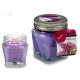 jar top candle lavender metal 16h