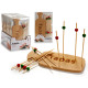 snack set and 10 bamboo skewers