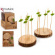 set of 2 supports wood trunk 10 skewer