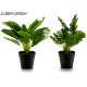 artificial plant 27cm green 2 times assorted