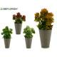 vaso di fiori conica grigio colori assortito