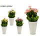 fioriera bianca margherite, colori 4 volte assorti