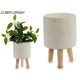 flowerpot cement legs wood blades redon median