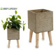 flowerpot cement legs wood gray quad large