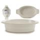 white oval casserole