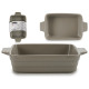 gray rectangular casserole