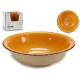 plate deep stoneware earth color edge
