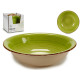 plate deep stoneware green edge