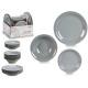 tableware 18 pieces gray stoneware