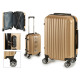 suitcase cabin abs gold stripes vertical