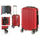 suitcase cabin abs red vertical stripes