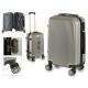 valigia cabina abs argento linee verticale