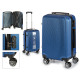 Kofferkabine abs blaue vertikale Linien