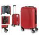 Kofferkabine abs roten vertikalen Linien