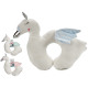 neck cushion 39x30 swan, 3 times assorted