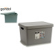 17l plastic case with handles colors 2 times assor