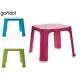 table en plastique pour enfants couleurs 3 fois as