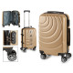 suitcase cabin abs gold waves circle