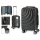 suitcase cabin abs black waves circle