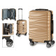 suitcase cabin abs gold waves