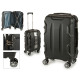suitcase cabin abs black shapes