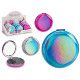 round folding magnifying mirror, 3 times assorted