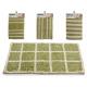 tapis vert 40x60cm, 4 fois assorti maquettes
