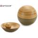 décoration boule de bambou beige 10 cm