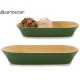 center table elongated bamboo green 37,5cm