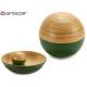 Bamboo ball decoration green 10 cm