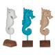 décoration en polyrésine d'hippocampe, 3 fois