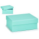 small pastel blue cardboard box
