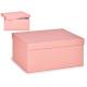 scatola di cartone rosa pastello xl