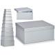conjunto de 10 cajas carton plata