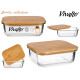 lunch box ermetico in borosilicato con coperchio b