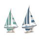 Holzboot Segelboot rund gr, Farben 2 mal seine