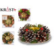 Christmas decorative candle holder 12cm assorted