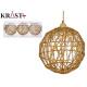 set of 3 gold die-cut christmas balls 8cm